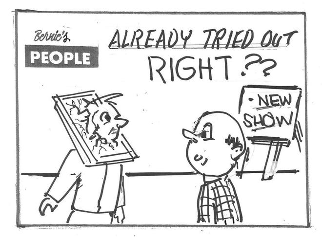 Bernie's People is a series created by Bernie the Cartoonist Hurlbut of Rome, NY revealing his reflections on modern life.