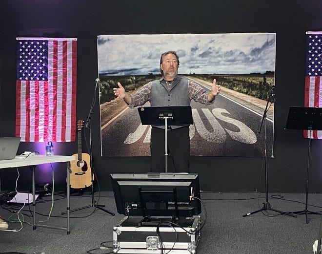 "Al Robertson, of ""Duck Dynasty"" fame, preaches a sermon at Branches Church, 4719 Se 29 in Del City."