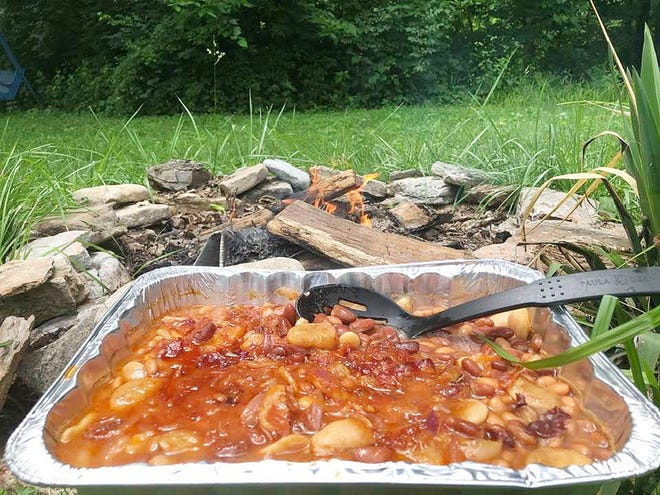 Summer baked beans, a la Amish Cook Gloria Yoder.