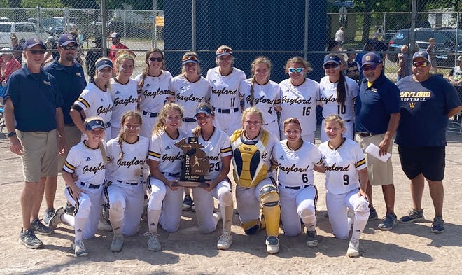 Gaylord softball got another opportunity to show off a trophy Saturday in Cadillac and didn't squander the chance, as they became Division 2 regional champions with a 12-2 win over Big Rapids.