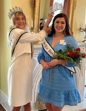 """Annie Blanchard was crowned """"Miss Iberville Parish"""" at a tea June 12."""