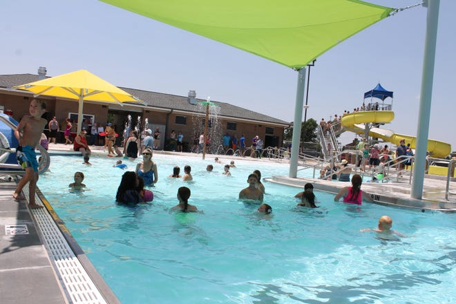 The Greensburg public swimming pool opens every weekday at 1 p.m.