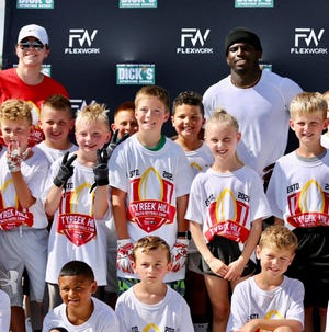 A group of Pratt youth took part in a recent football camp with Kansas City Chiefs' NFL player Tyreek Hill in Wichita.