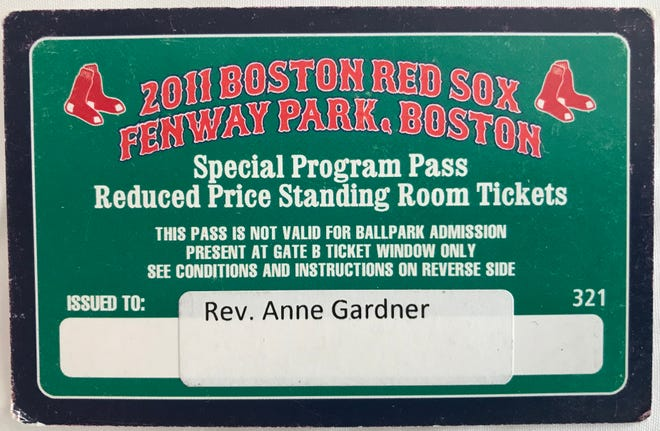 The Rev. Anne Gardner's clergy pass from 2011.