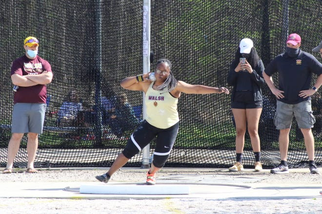 Walsh's Ndidiamaka Anaraodo finished third in the women's shot put at this year's NCAA Division II Outdoor Track and Field Championships.