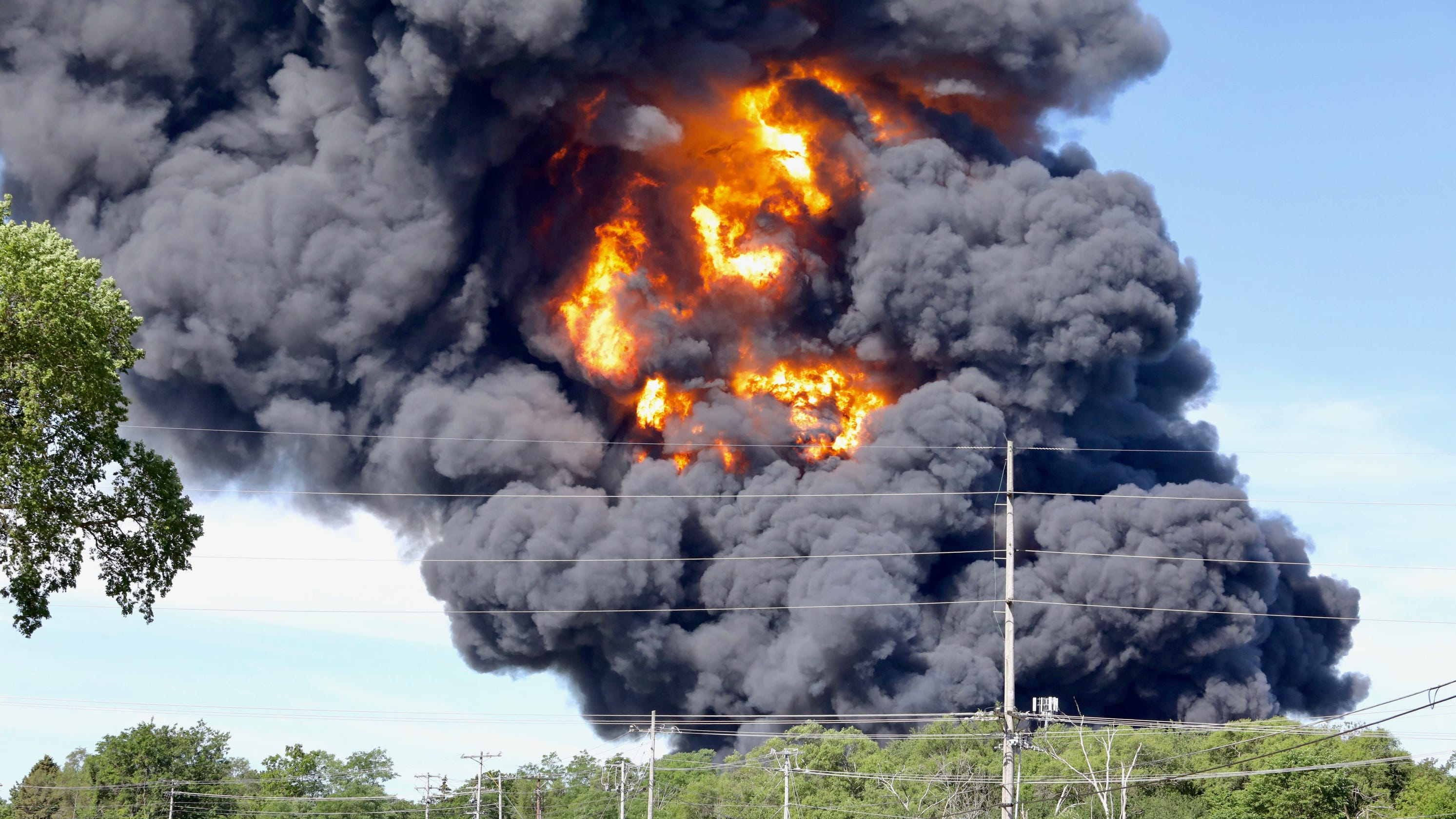 A massive fire destroyed a chemical plant in Rockton, Illinois. It could burn for days, officials say.