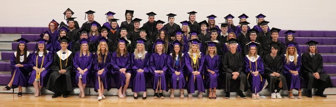 The fifty-two graduating CCHS class before the ceremony.