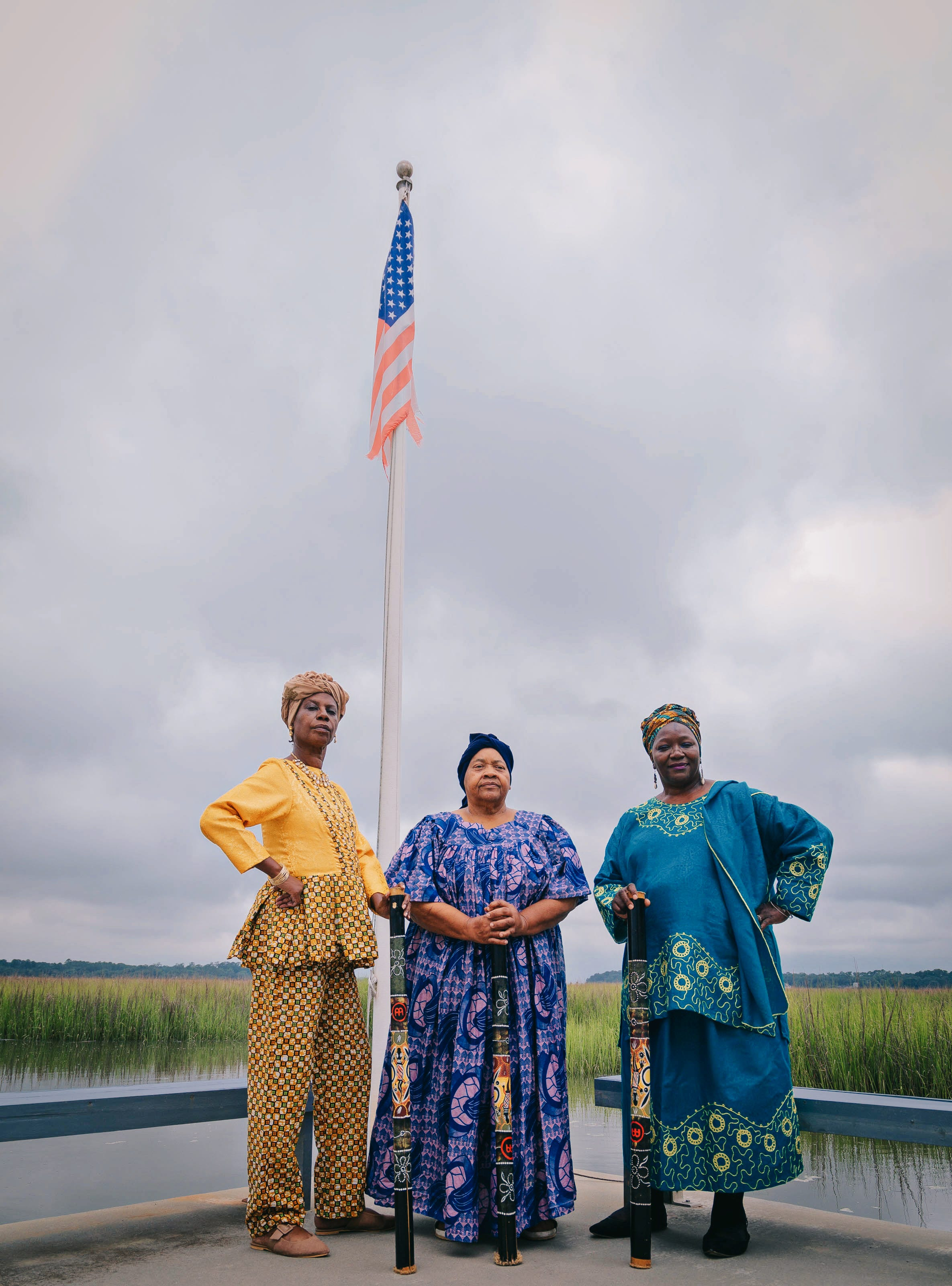 Rosalyn Rouse, Sister Linnie Kelly and Patt Gunn at Pin Point Heritage Museum in Savannah.