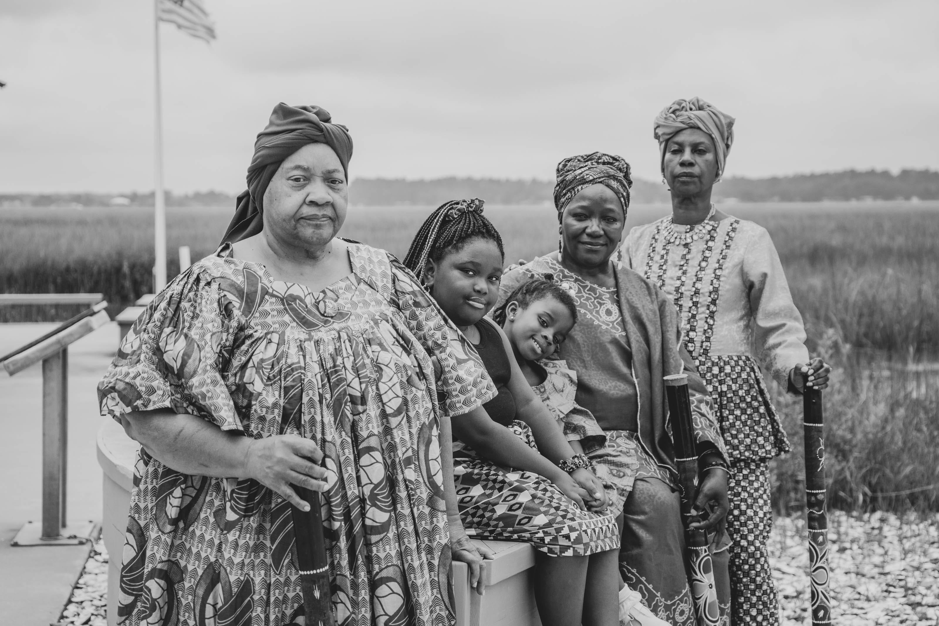 From left: Pastor Linnie Kelly, Lemeirah Rouse, Noelle Mugin, Patt Gunn and Rosalyn Rouse at Pin Point Heritage Museum in Savannah.