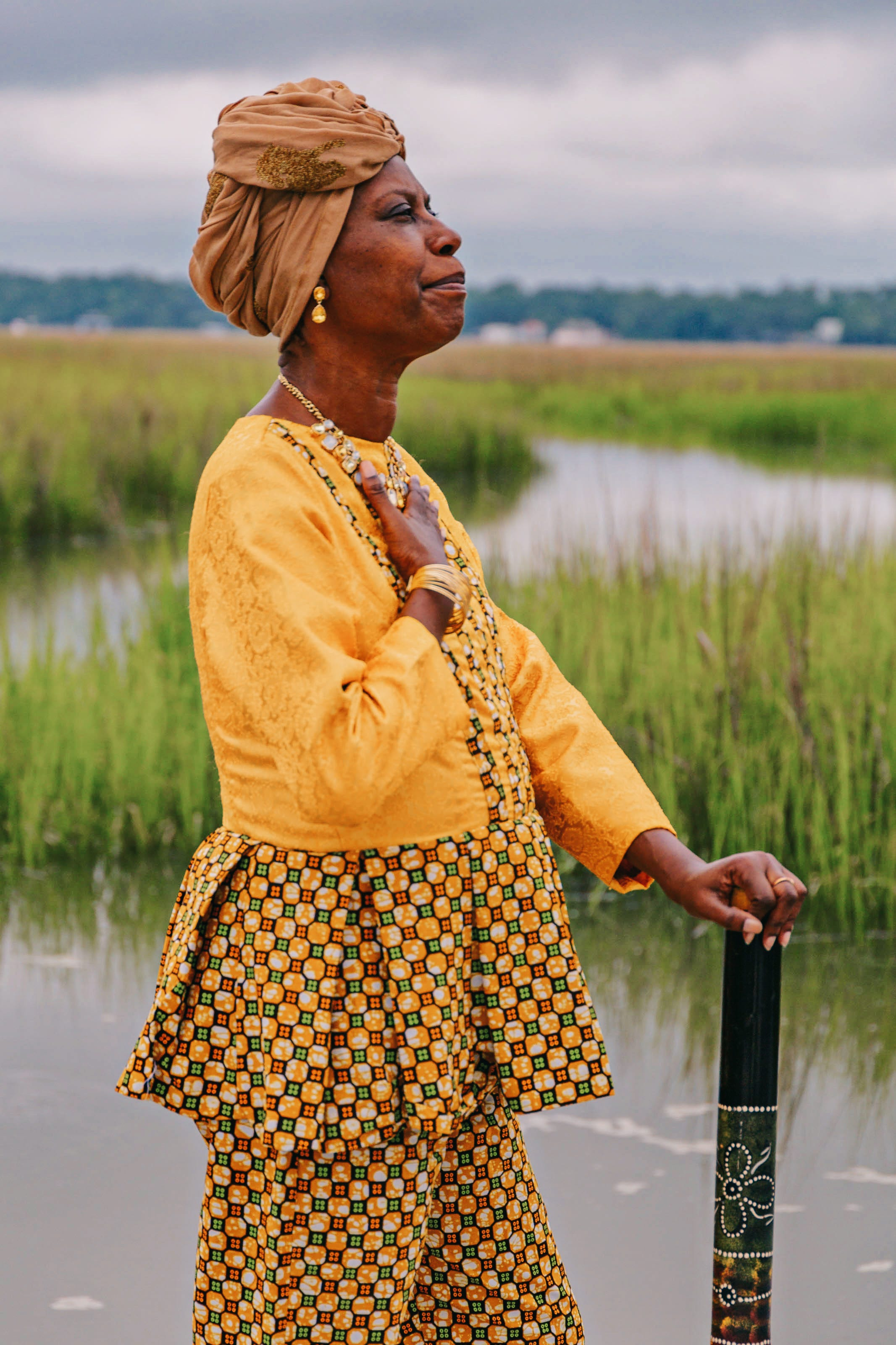 Rosalyn Rouse at Pin Point Heritage Museum in Savannah.
