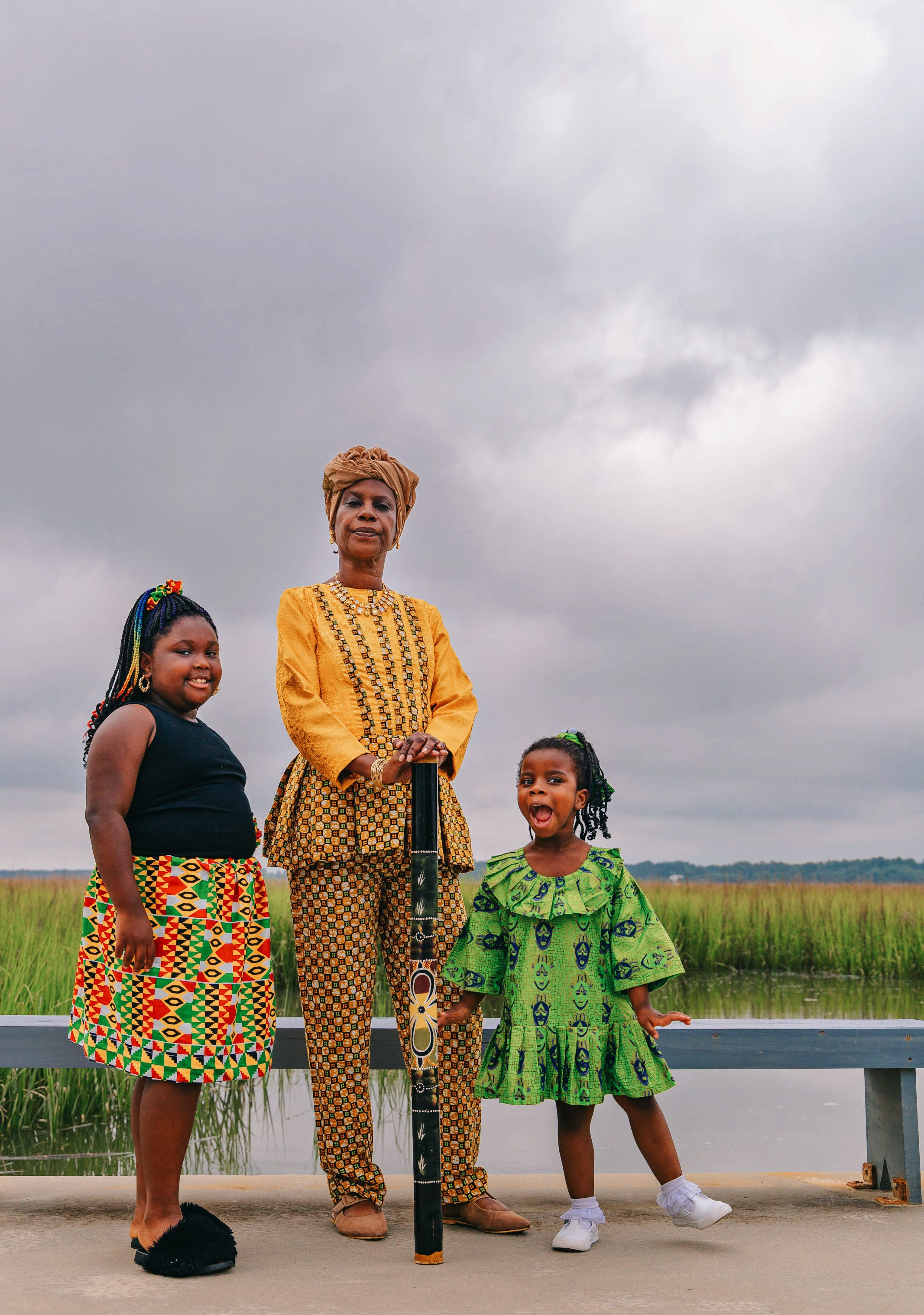 """Rosalyn Rouse, Lemeirah Rouse and Noelle Mugin at Pin Point Heritage Museum in Savannah. """"I remind my grandkids and my niece every day and I never want them to forget what it took for them to be here,"""" Rouse said."""