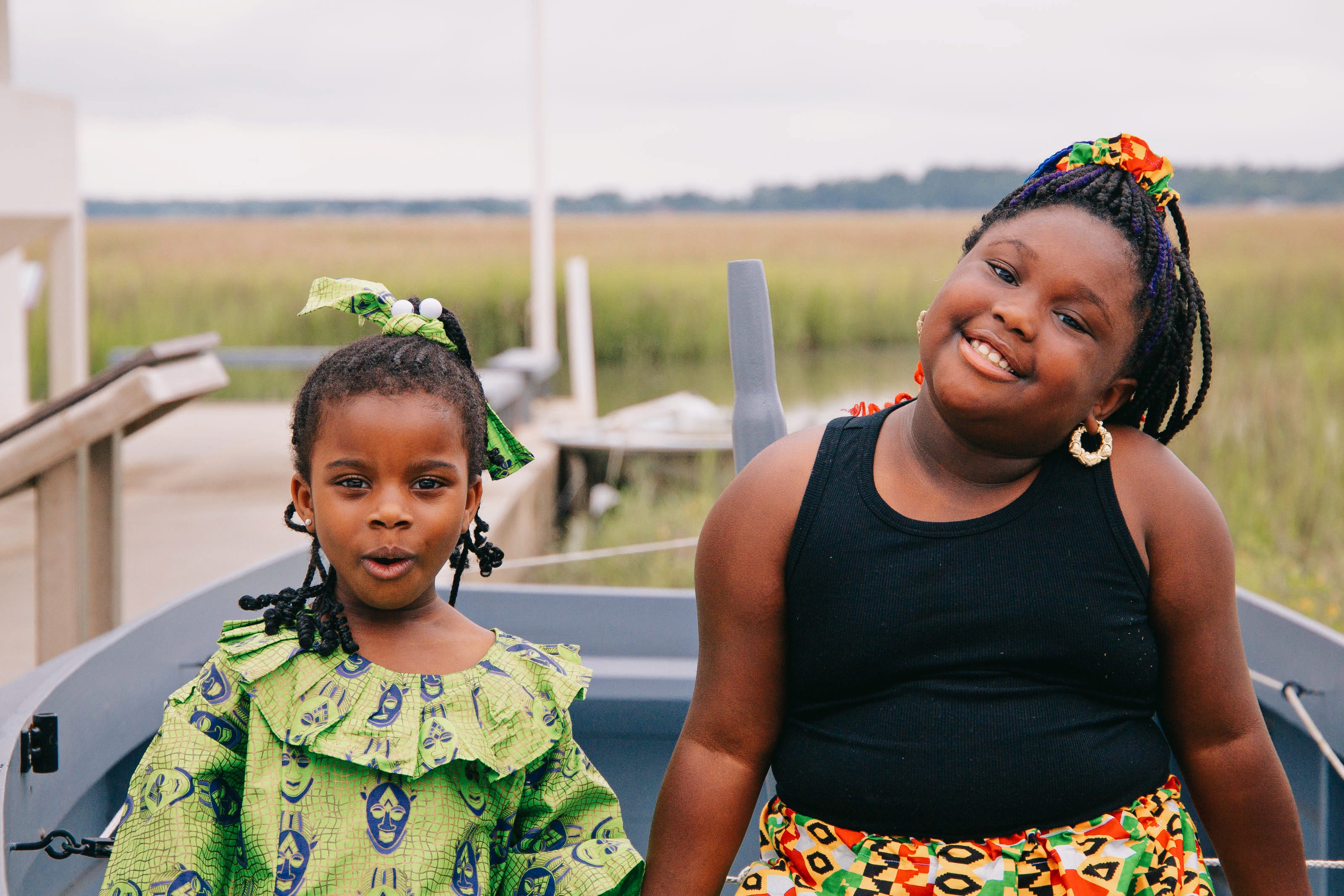 Lemeirah Rouse and Noelle Mugin at Pin Point Heritage Museum in Savannah.