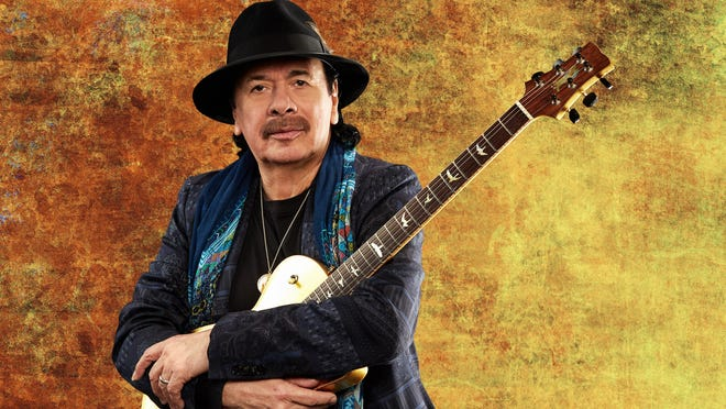 Rock and Roll Hall of Fame guitarist Santana will play Wilmington's Riverfront Park Amphitheater on Sept. 15.