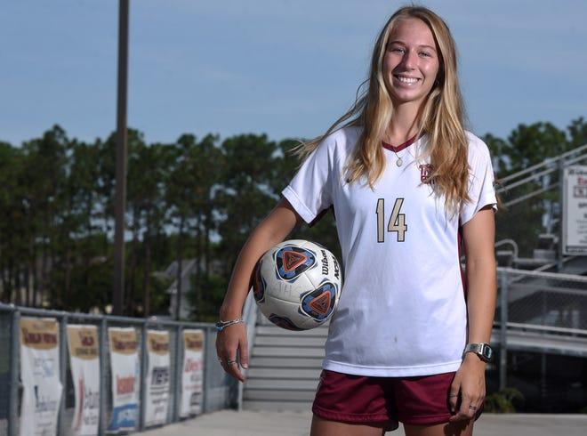 Ashley's McKenna Gardner is the StarNews All-Area girls soccer player of the year at the school in Wilmington, N.C., Monday, June 14, 2021.     [MATT BORN/STARNEWS]