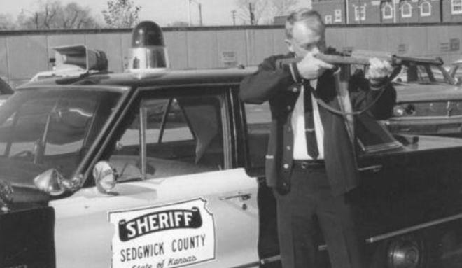 This photo of Vern Miller was taken when he was sheriff of Sedgwick County.