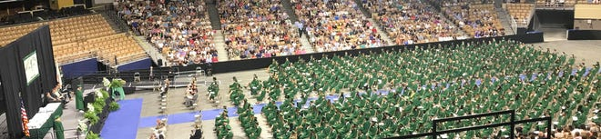 Wachusett Regional High School held its graduation ceremony on Thursday, June 10, at the DCU Center, in Worcester.