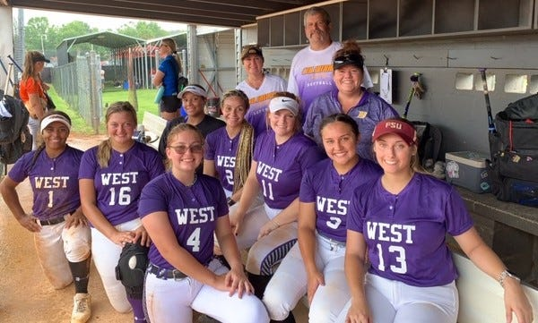 The West softball team at the North Florida All Star Classic on Saturday at Santa Fe High.