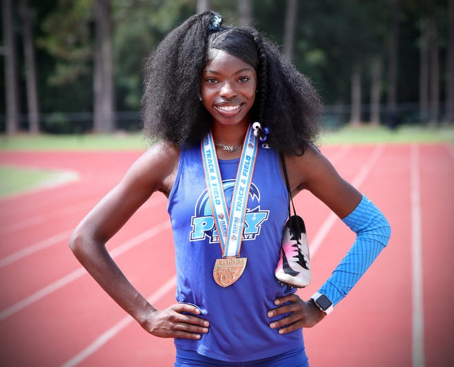 P.K. Yonge's Zuriel Reed is the Gainesville Sun Girls Track and Field Athlete of the Year.