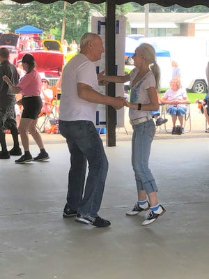Jack Oney of Mt Vernon and Cindy Baker of Coshocton share a dance at the Fab 50's event.