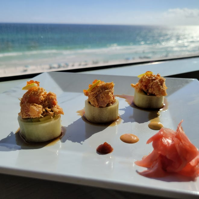 Chef Manuel Rodriguez shared his recipe for the JJ Roll, named after the Compass Bar's sushi chef Jason Jarrell at SpringHill Suites on Front Beach Road.