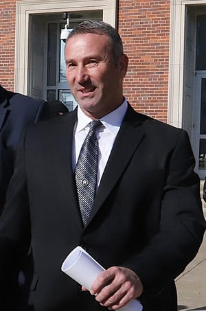 Franklin County Sheriff Anthony Boen is seen exiting the Judge Isaac C. Parker Federal Building in November 2019 after a grand jury indictment. His trial is set for Aug. 2.