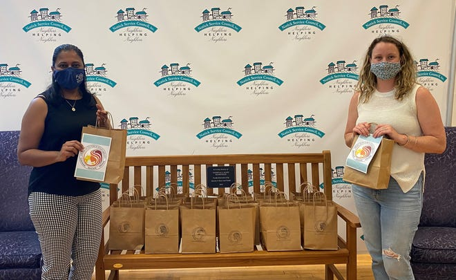 Thank you to Fiona Almeida from Small Acts of Kindness, pictured with Kelsey Hampton, NSC Director Food Pantry and Volunteer Services,  for donating period packages for the council's food pantry clients.