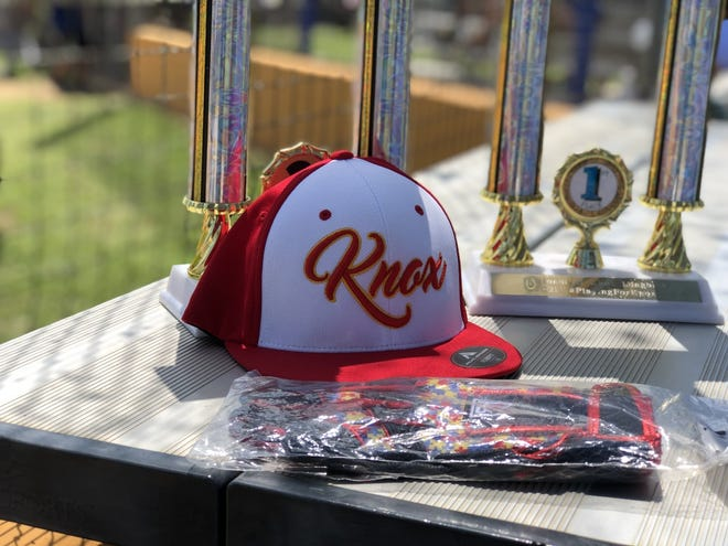 Trophies await winners of the softball tournament held on Sunday,  June 13, 2021 in Beeville in honor of Knox Longoria.