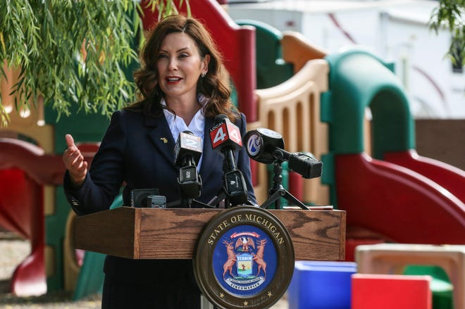 """""""I know we all share a commitment to sound fiscal management, embodied in a good faith agreement to run any legislation with a fiscal impact through the budget process,"""" says Michigan Gov. Gretchen Whitmer, a Democrat, in a letter to lawmakers explaining her vetoes of two bills that would let businesses seek refunds for taxes paid on personal protective equipment, disinfectants and plexiglass barriers during the coronavirus pandemic."""