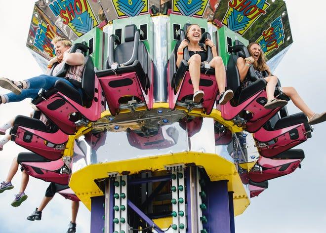 A carnival ride at Rock 'n' Rides in downtown Royal Oak.