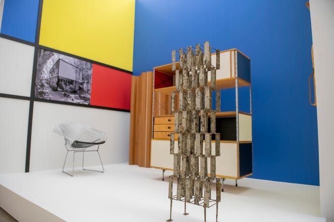 """A portion of the """"Architecture of the Interior"""" gallery inside the """"With Eyes Opened"""" exhibit at Cranbrook Art Museum, in Bloomfield Hills, June 14, 2021."""