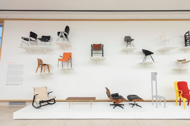 """The """"Cranbrook and the Chair"""" gallery inside the """"With Eyes Opened"""" exhibit at Cranbrook Art Museum, in Bloomfield Hills, June 14, 2021."""