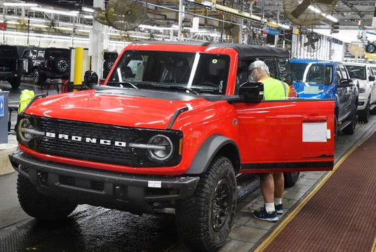 Because of high demand, dealers say customers without an order won'tbe able to come to a lot and drive off with a new Bronco anytime soon.