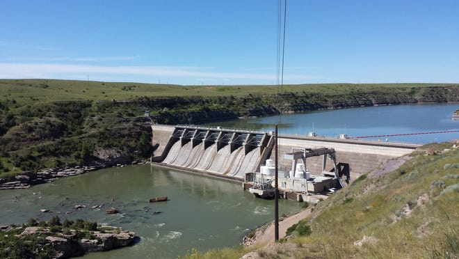 A scenic view of Cochran Dam, roughly eight miles northeast of Great Falls