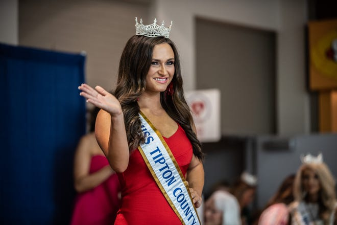 Lydia Waldrop, Miss Tipton County, during her first public appearance as a Miss Tennessee Volunteer contestant at Old Hickory Mall on Sunday, June 13, 2021 in Jackson, Tenn.