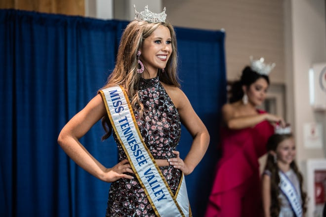 Peyton Wilson, Miss Tennessee Valley, during her first public appearance as a Miss Tennessee Volunteer contestant at Old Hickory Mall on Sunday, June 13, 2021 in Jackson, Tenn.