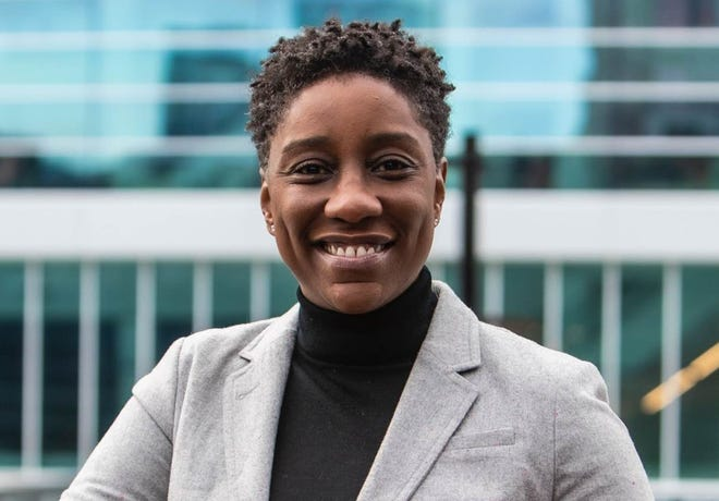 Raven Jemison, VP of business operations for the Milwaukee Bucks, is part of a panel discussion on women of color in sports management.