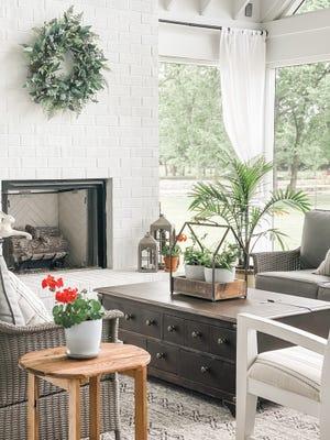 A porch design by Jennifer Davenport, former DNJ columnist and owner JD's All About Home interior design.