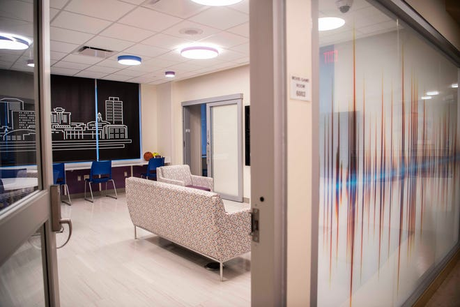 Photos of the Teen Cancer Lounge at Monroe Carell Jr. Children's Hospital  in Nashville, Tenn., Thursday, June 3, 2021. RocNation Pop R&B singer Harry Hudson opened a Teen Cancer Lounge at Vanderbilt with a $500,000 donation in his name from buddy Kylie Jenner.