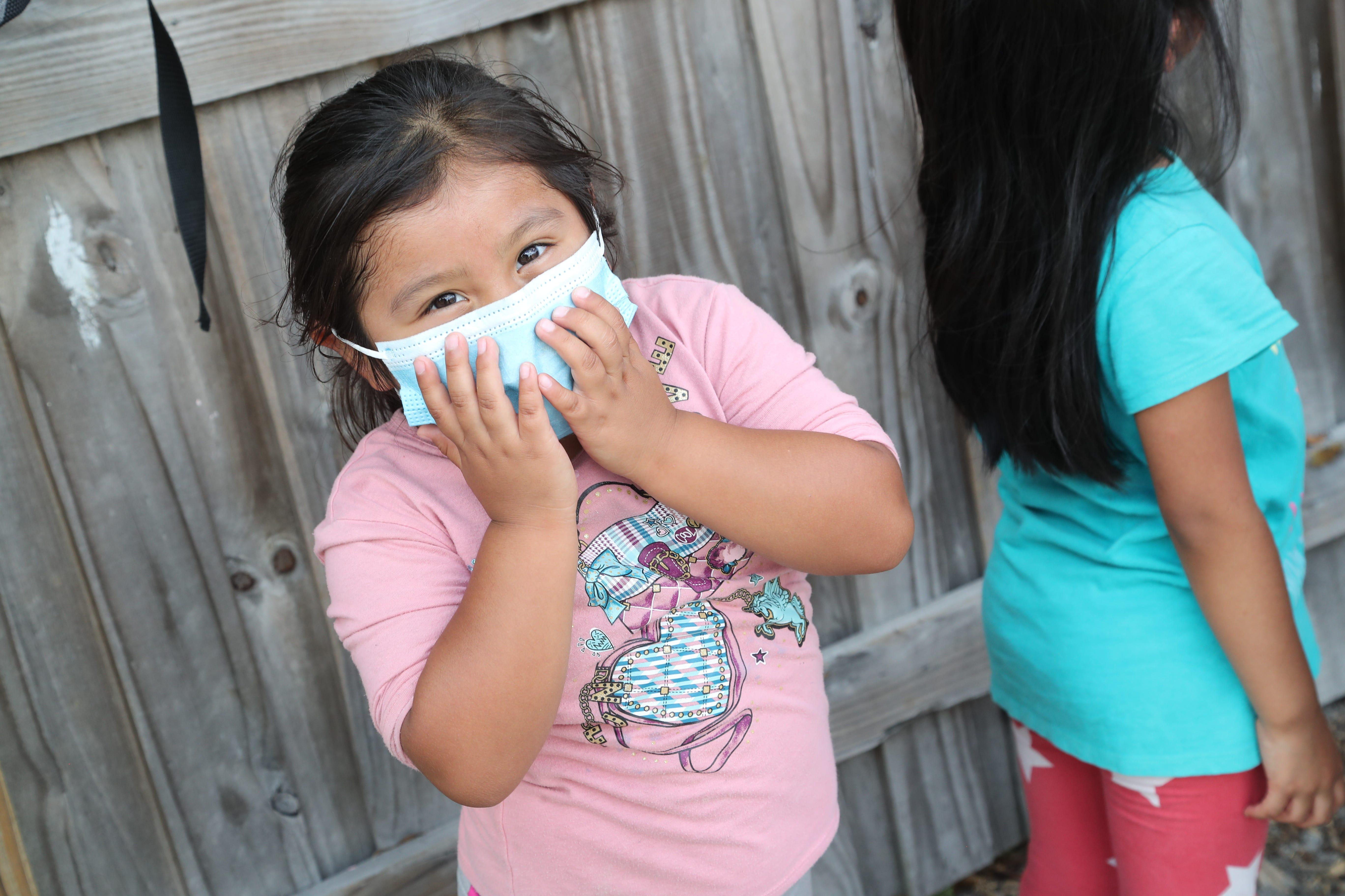 Zaira Hernandez in preschool at Redlands Christian Migrant Association center in Dover, Florida.