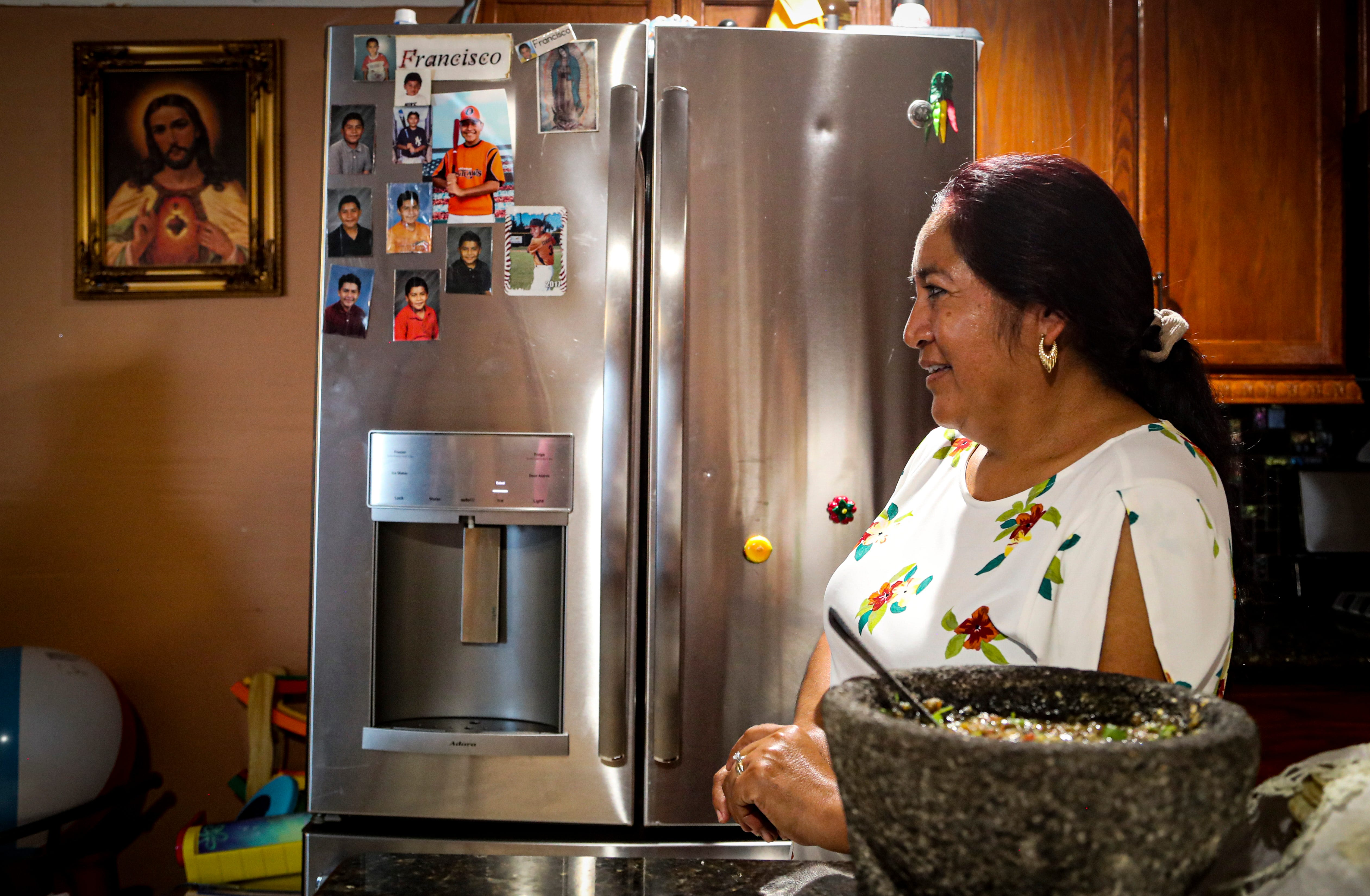 Matilde Angeles, 51, of Naples, migrates with tomato crops. She worried about being able to help her 16-year-old son Francisco Angeles during virtual school because she lacks computer skills. However, her son excelled in virtual school.