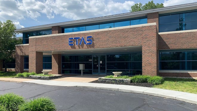 The front of the building now occupied by ETAS in Northville Township. The company recently relocated to western Wayne County from Ann Arbor.