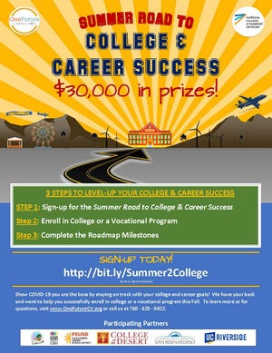 """You can sign up for the summer """"Road to College & Career Success' program."""
