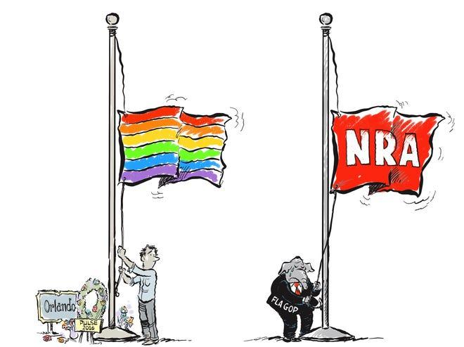 Marlette cartoon: Floridians remember the Pulse nightclub shooting