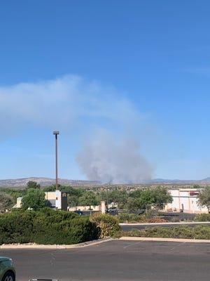 The Cornville Fire, as seen near Sedona on June 13, 2021.