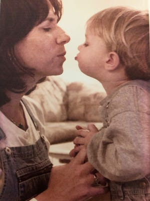 Sawyer was just 16 months old when I took him with me to the Glendale home of Cathy Stelter, and we sat up late waiting for a judge's order to find out if her niece, who had AIDS, could stay with her.