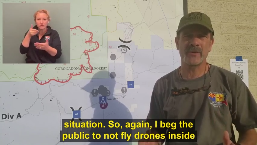 Drones pose a danger inside Pinnacle Fire's temporary flight restriction