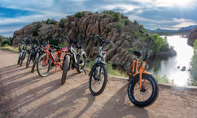 Prescott Ebikes offers electric-bike rentals and self-guided trail rides at Watson Lake.