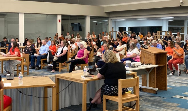 About 100 people attended the Hudson Board of Education meeting Monday. Many of the speakers shared their support for the district's Diversity, Equity and Inclusion efforts. Some attendees expressed concerns about certain components of the program.