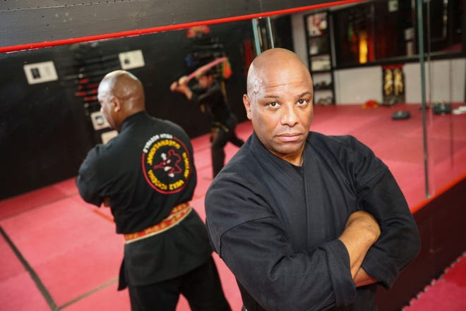 Keith Rosary in his Martial Arts Academy in Hyannis.