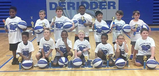 BPSO Boys Basketball Camp Pre-K through 2nd Grade award winners.